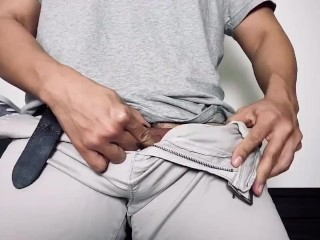 Tie My Dick And Balls, Put In My Tight Shorts And Moan!