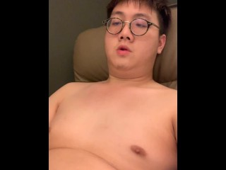 Asian Bear Jerk Off And Shoot On His Face