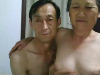 Chinese Old Couple Cumshot